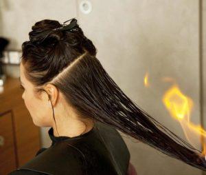 Восстановление волос огнем БЭС брюляж в Москве