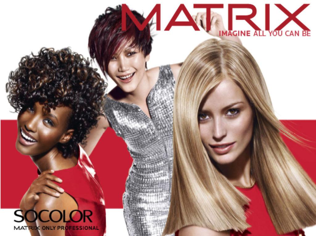 Колорирование волос Matrix в салоне красоты в Москве на Якиманке